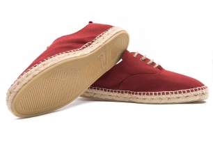 Burgundy Cotton Shoes