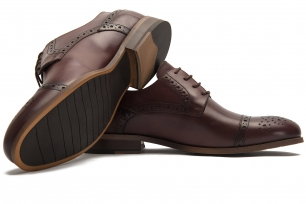Burgundy Genuine leather Shoes