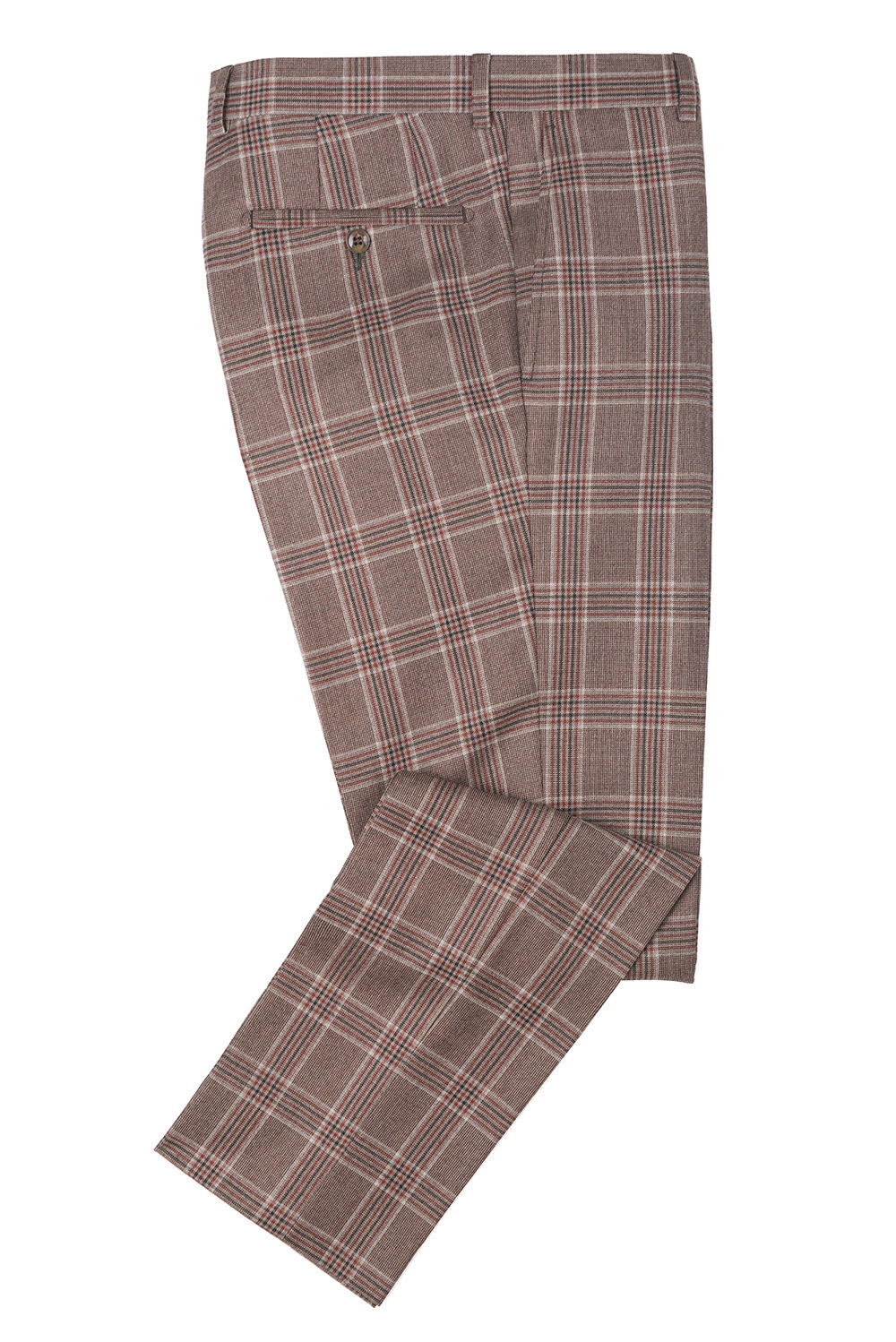 Superslim Grey Check Trouser 1