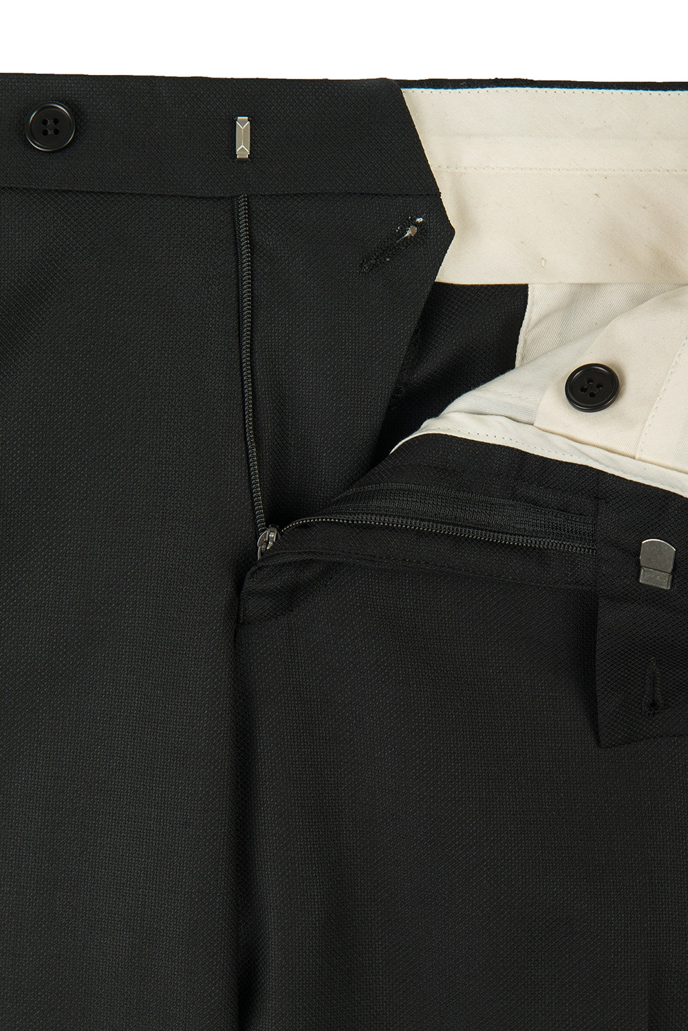 Superslim Black Plain Trouser 1