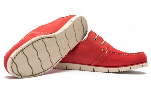 Red Nubuck leather Shoes