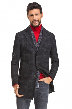 Black Check Coat