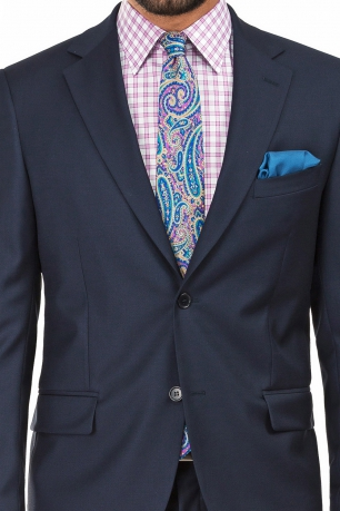 Slim Navy Plain Suit