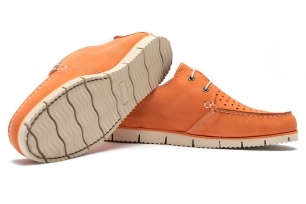 Orange Nubuck leather Shoes