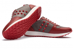 Rosu bej Leather and textile Shoes