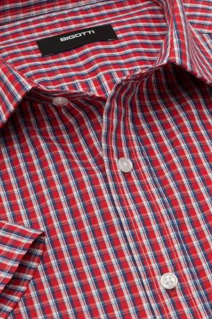 Slim Red Check Shirt