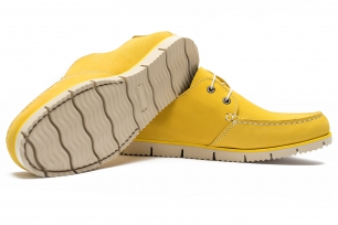 Yellow Nubuck leather Shoes