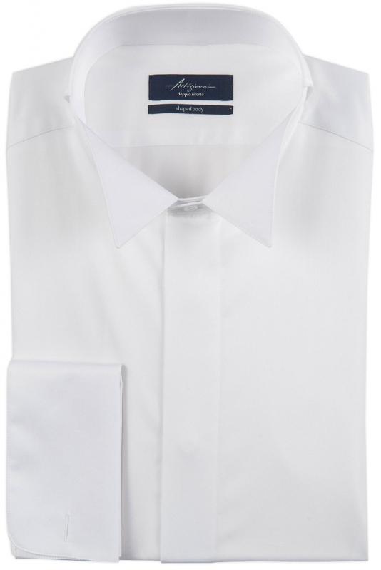 Comfort White Plain Shirt