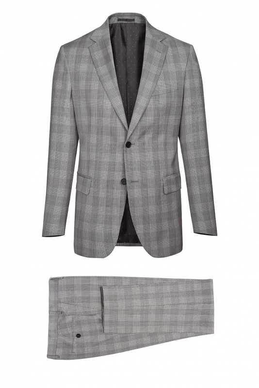 Superslim Grey Check Suit