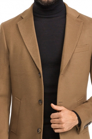 Camel Plain Coat