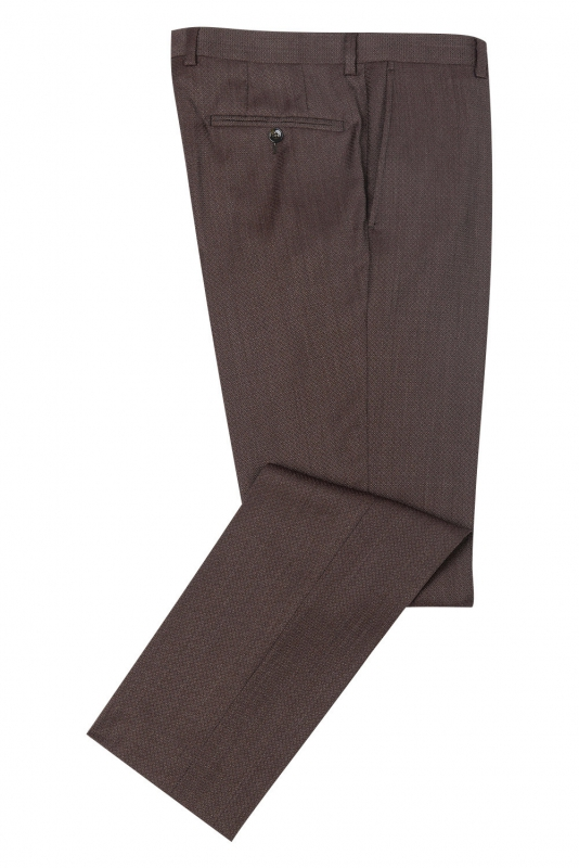 Superslim Burgundy Plain Trouser