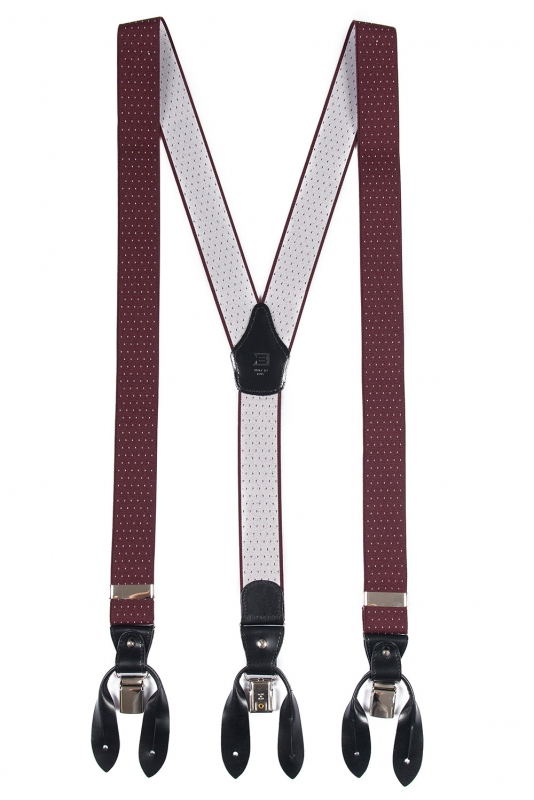 Burgundy Suspender