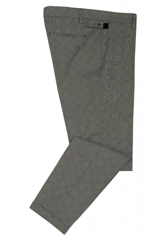 Slim body Grey Geometric Trouser