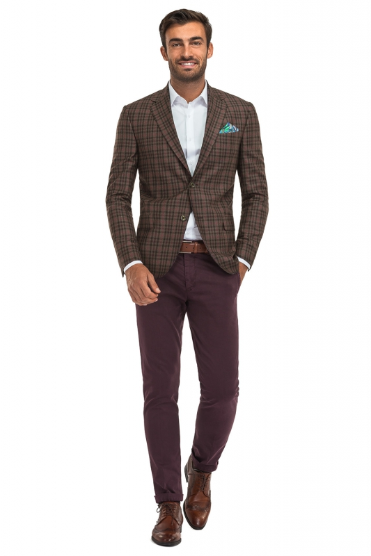 Slim Purple Plain Trouser