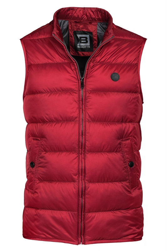 Slim body Red Plain Waistcoat
