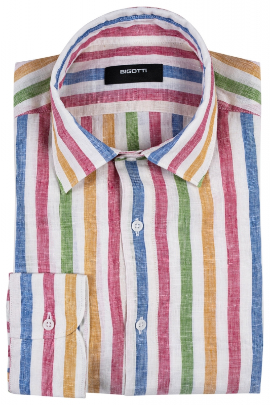 Superslim Multi-colored Stripe Shirt