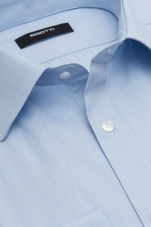 Superslim Light blue Plain Shirt