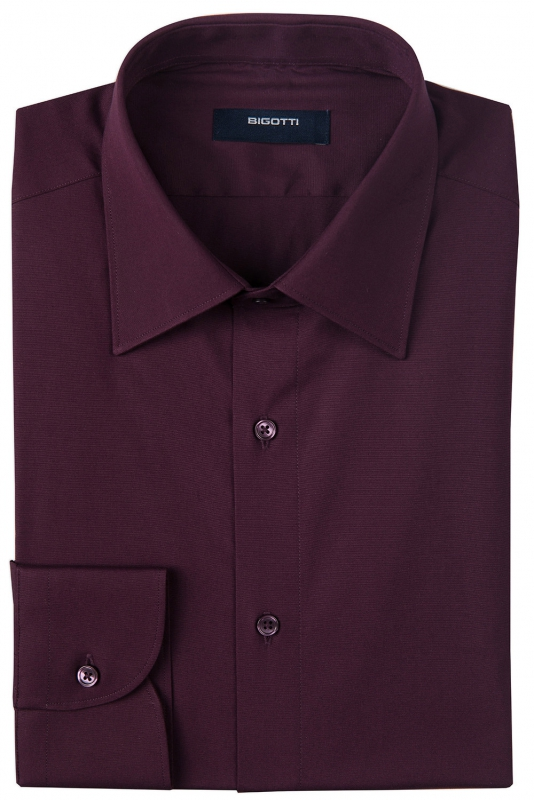 Slim Purple Plain Shirt