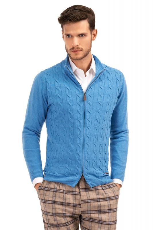 Slim Light blue Sweater