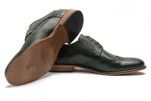 Green Genuine leather Shoes