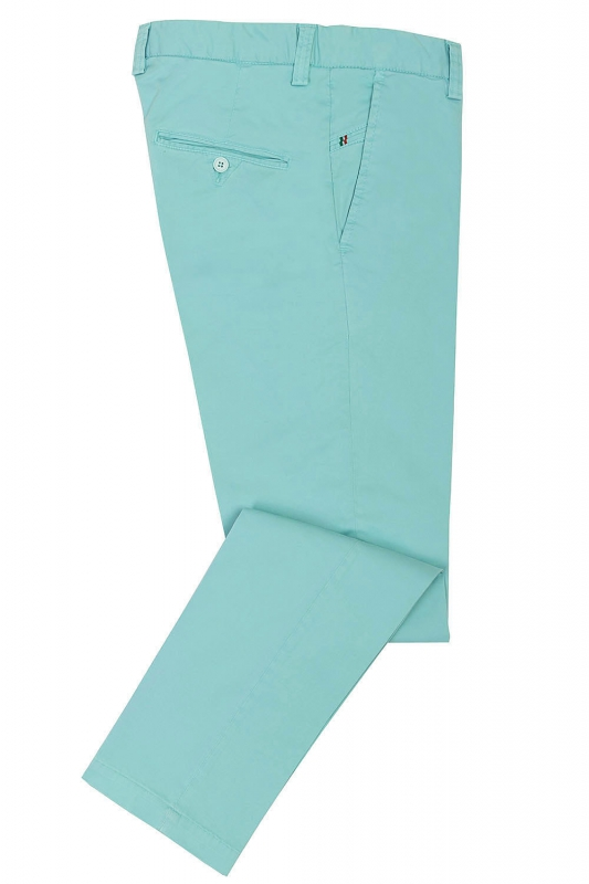 Slim Light blue Plain Trouser