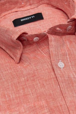 Superslim Red Plain Shirt