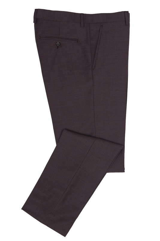 Slim body Burgundy Plain Trouser