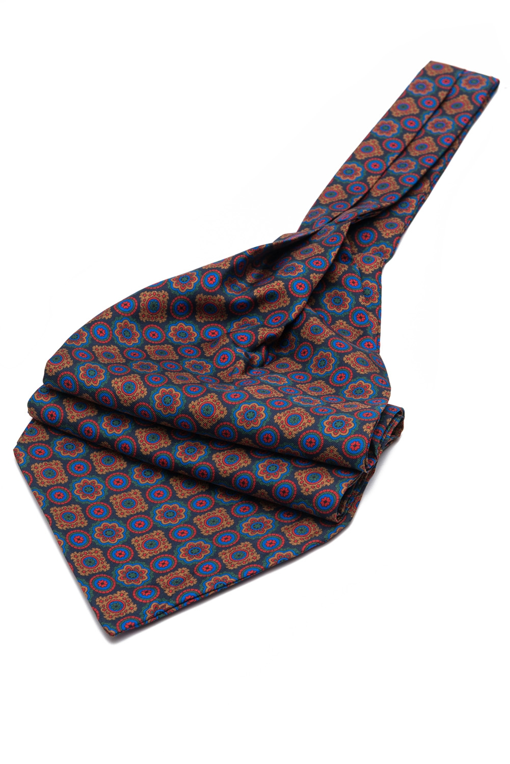Navy Floral Ascot tie 0