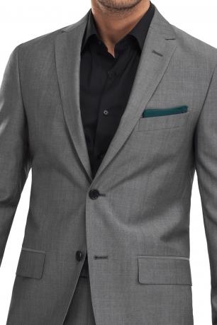 Superslim Grey Plain Suit