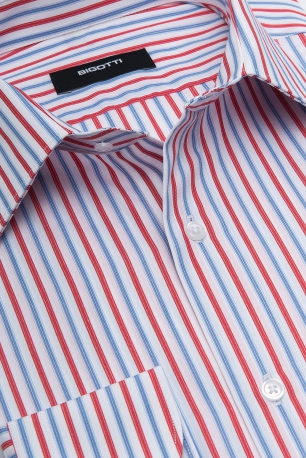 Shaped Red Stripe Shirt