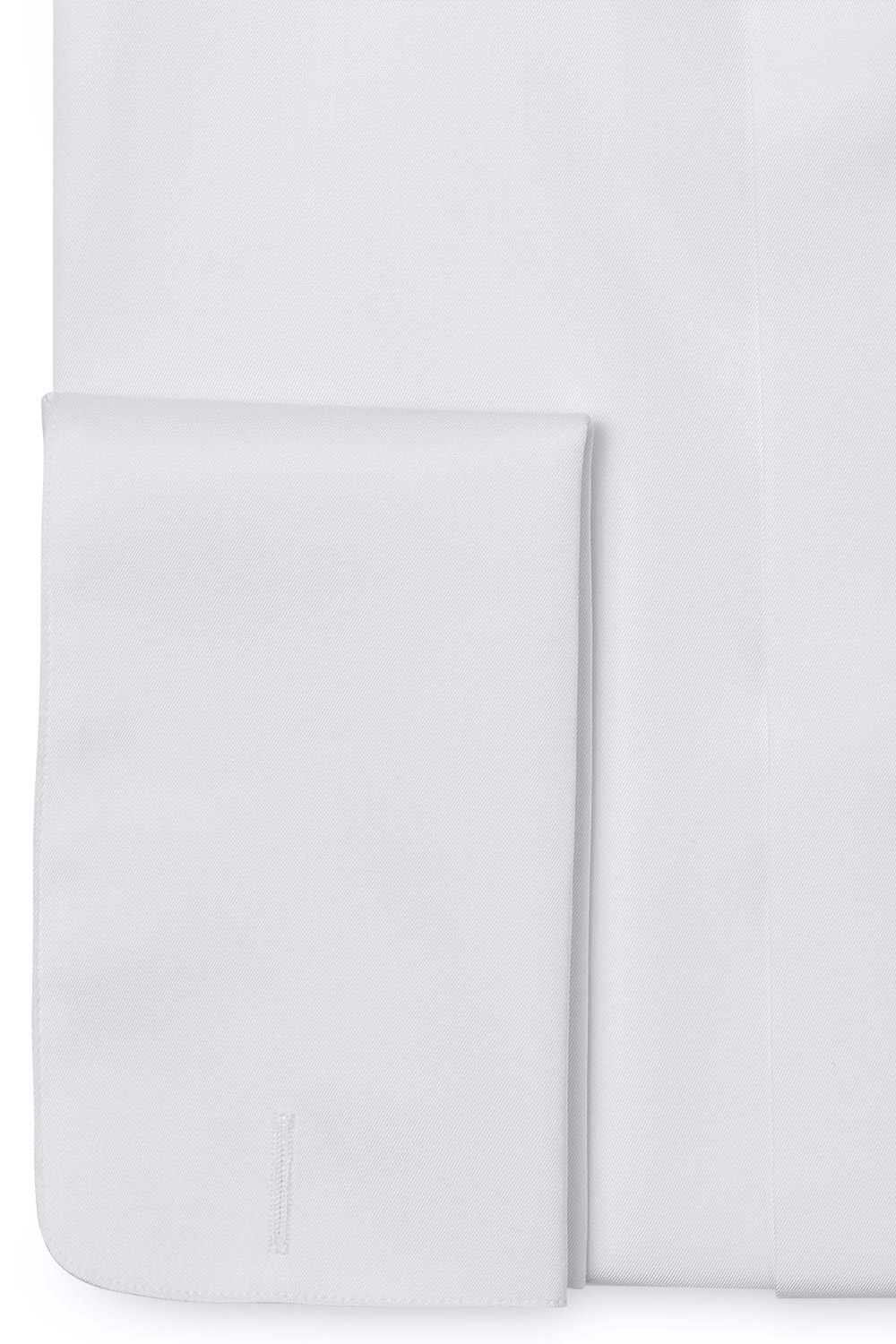 Slim White Plain Shirt 2