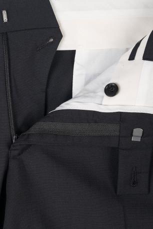 Superslim Black Plain Trouser