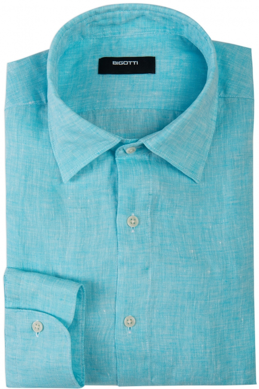 Slim Blue Uni Shirt