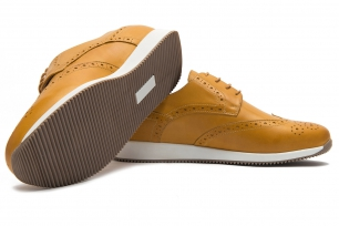 Yellow Genuine leather Shoes