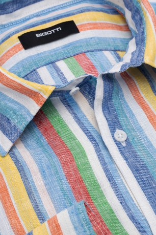 Slim body Multi-colored Stripe Shirt
