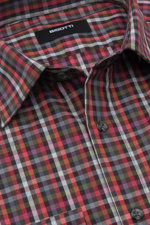 Slim Red Check Shirt