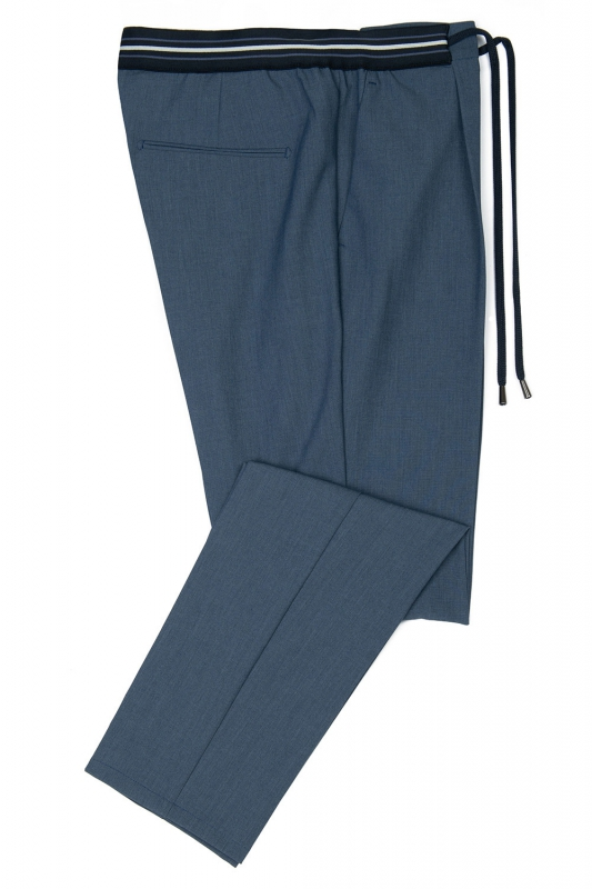 Slim body Blue Geometric Trouser