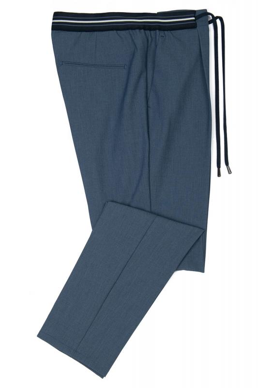 Slim body Blue Geometric Trouser