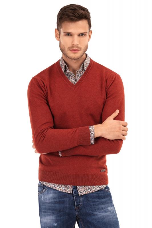 Slim Orange Sweater