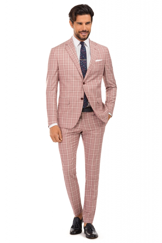 Superslim Red Check Suit