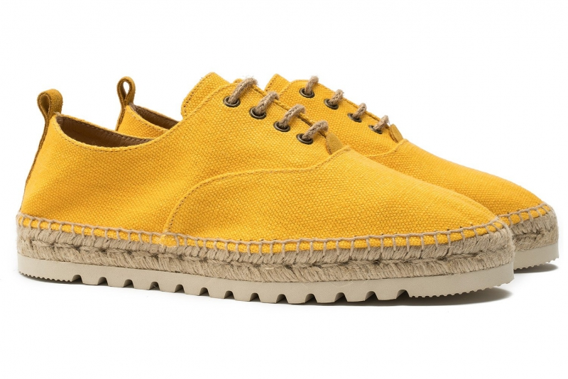 YELLOW COTTON SHOES