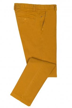 slim yellow plain trouser