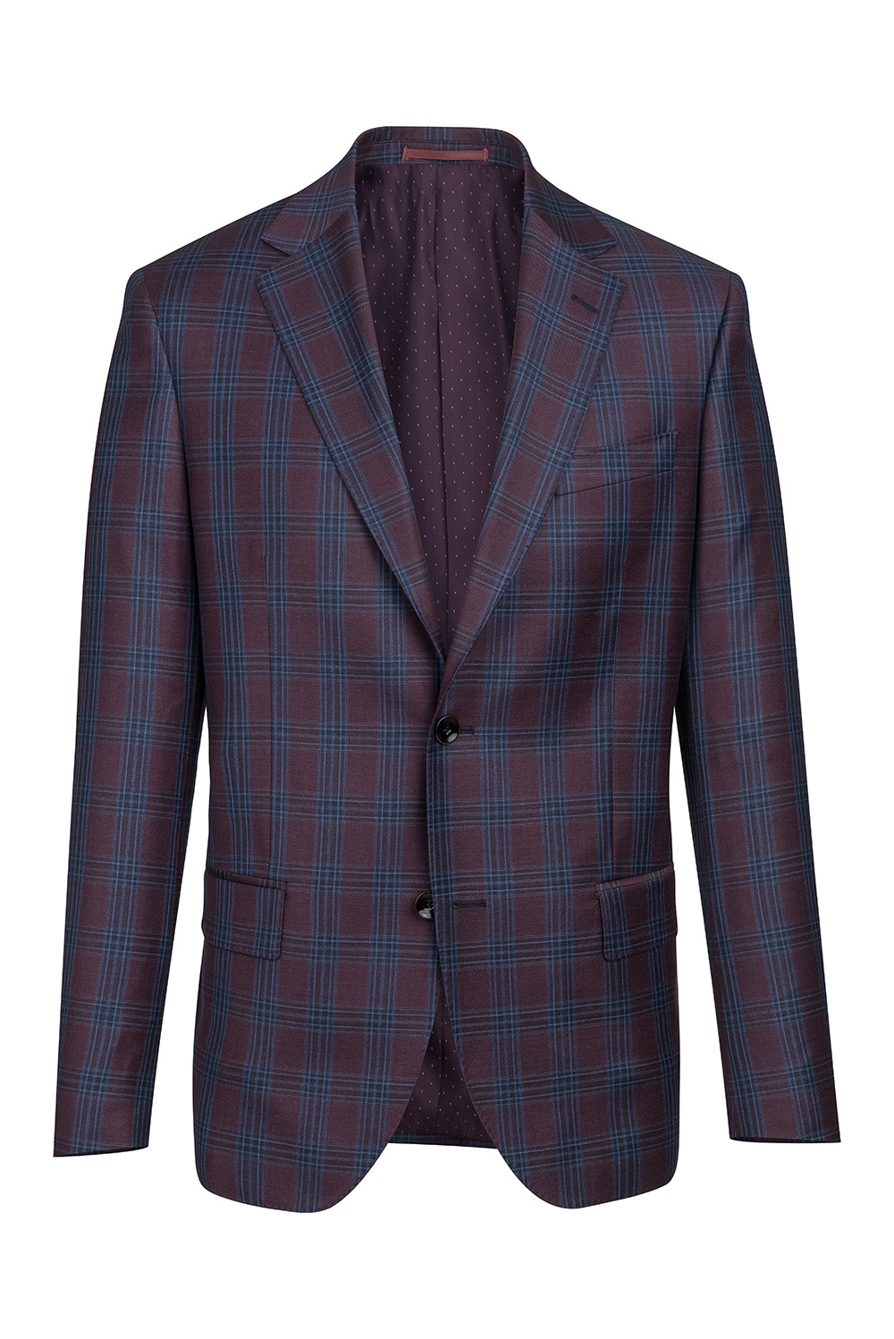 Burgundy Check Blazer 0