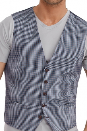 Slim Grey Check Waistcoat