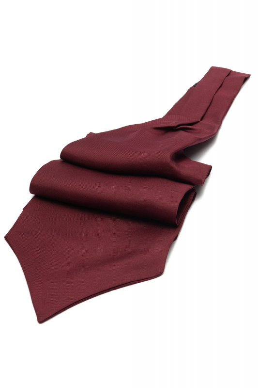 Burgundy Plain Ascot tie