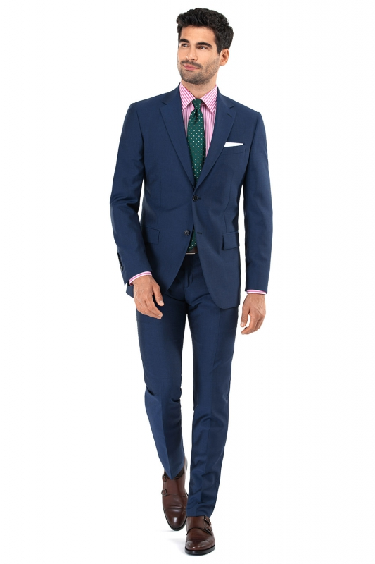 Superslim Blue Plain Suit