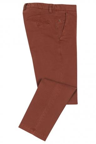 Slim Orange Plain Trouser