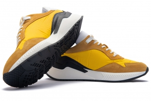 Yellow Matt suede leather and textil Shoes