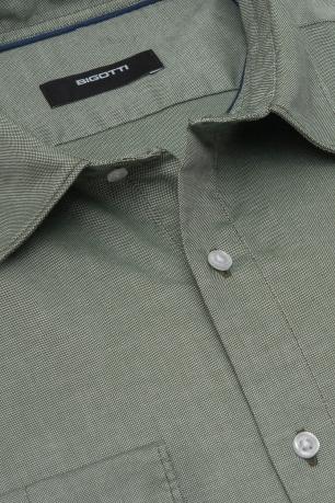 Superslim Green Plain Shirt