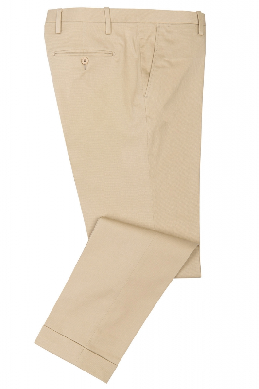 Slim Beige Plain Trouser